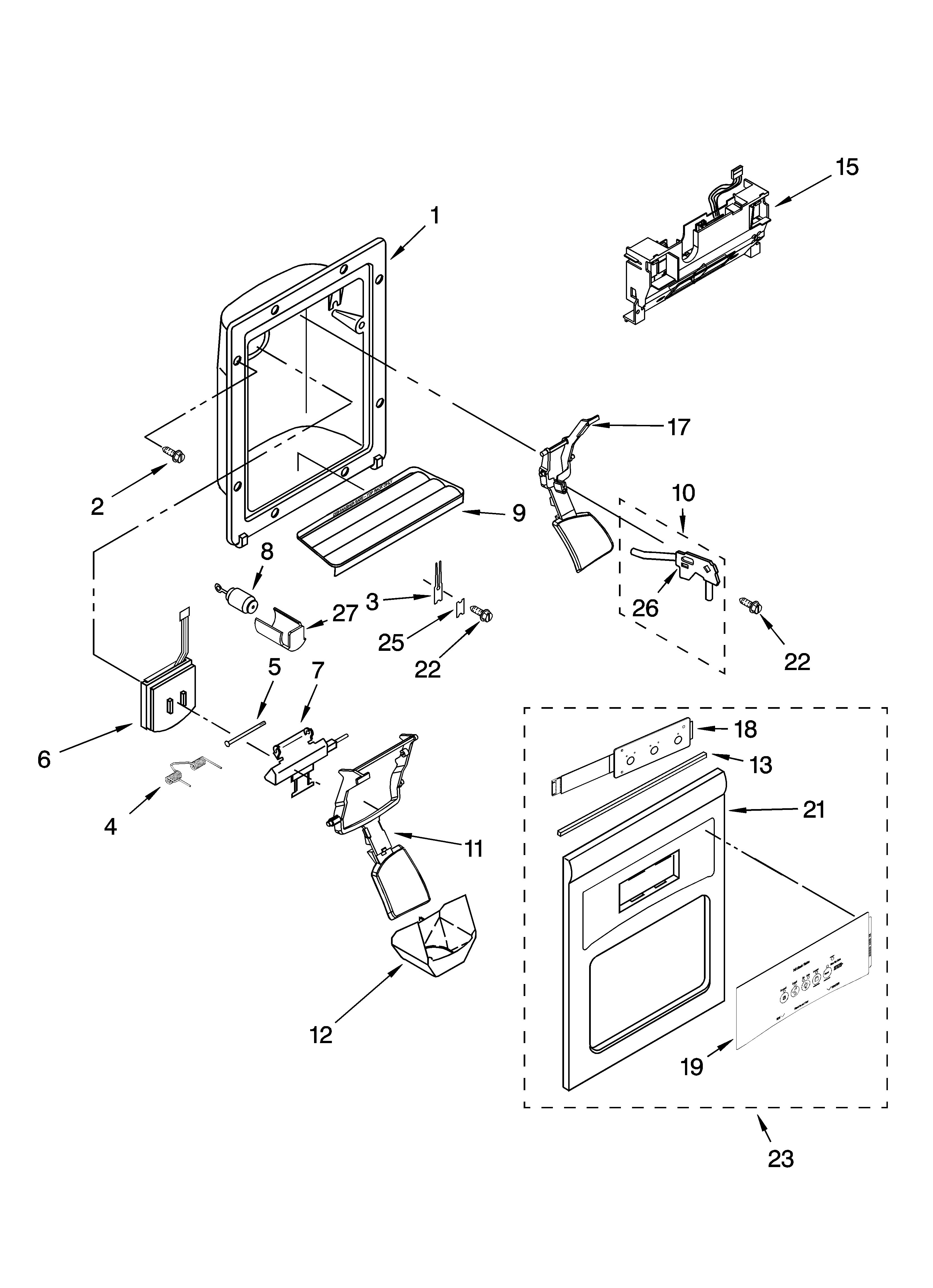 kenmore side by side refrigerator parts manual