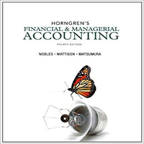 financial and managerial accounting for mbas 4th edition solutions manual