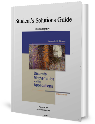 solution manual of discrete mathematics and its applications 7th edition