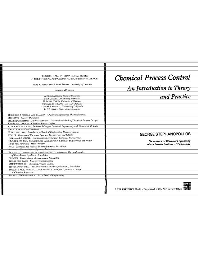 chemical process control stephanopoulos solutions manual download