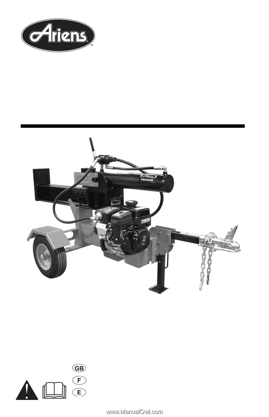 brave products log splitter parts manual